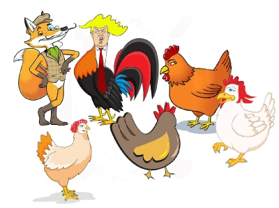 Fox Among the Hens Graphic