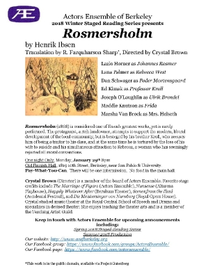 Rosmersholm Program